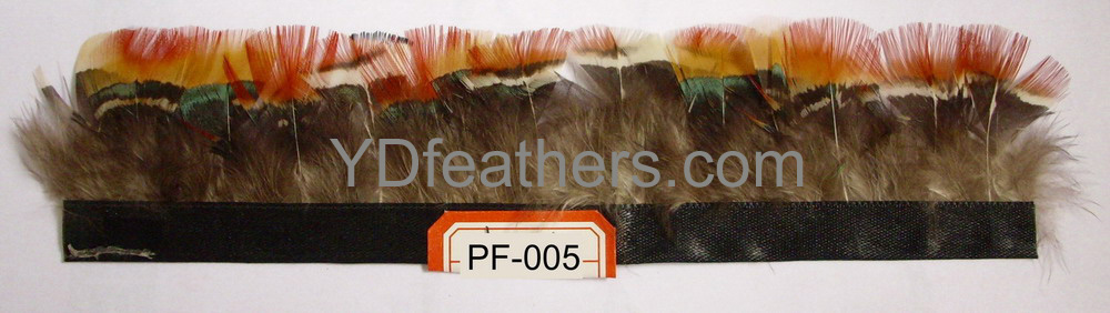 PF-005(Lady amhurst pheasant red body feather fringe/trimming)