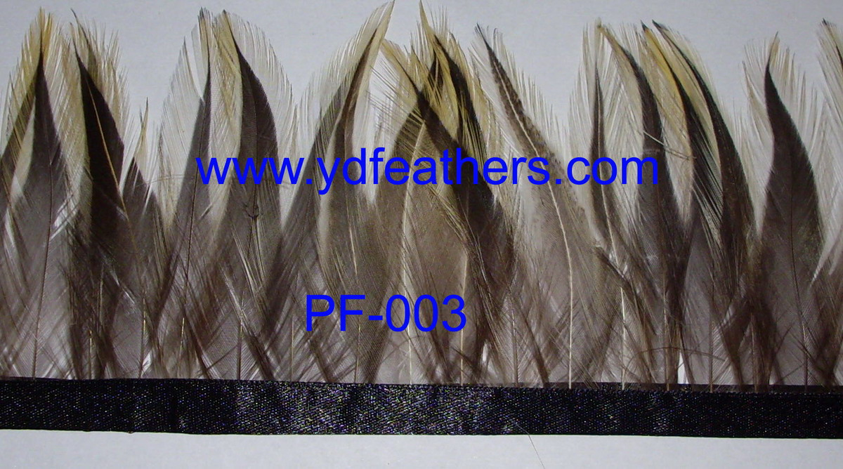 PF-003(Rooster saddles feather fringe/trimming)