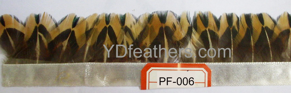PF-006(Ringneck pheasant body feather fringe/trimming)