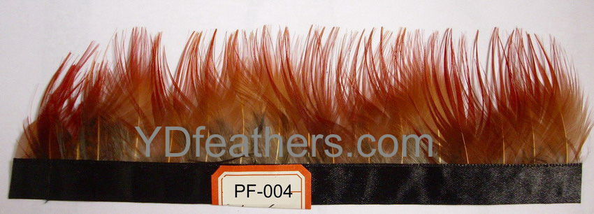 PF-004(golden pheasant red body feather fringe/trimming)